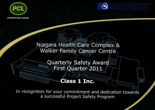 Niagara Health Care Safety Award